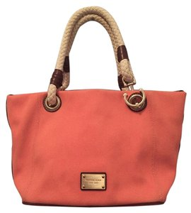 Michael Kors Canvas Tote in Coral