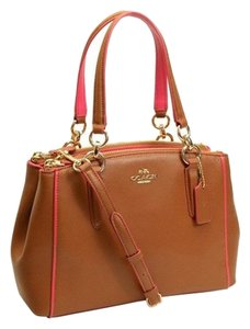 Coach Carryall F37762 Satchel in IMITATION GOLD/SADDLE/DAHLIA