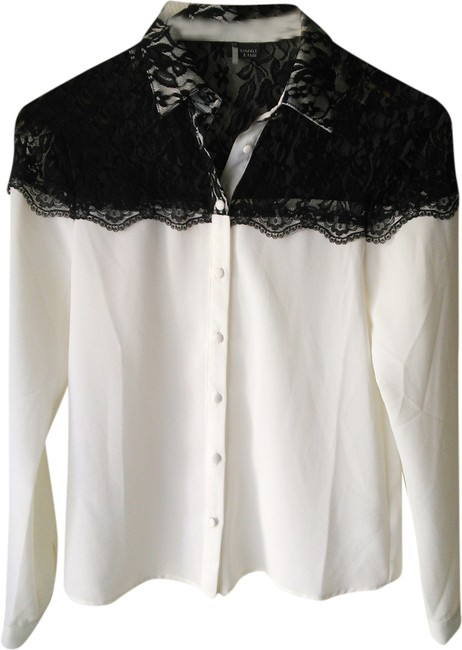 Sparkle & Fade Top White with black lace