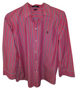 Chaps Button Down Shirt Pink/Blue/White
