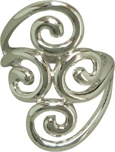 Unknown Sterling Silver Ring withSwirl Designs