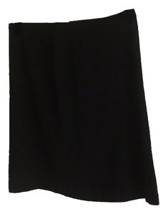 Brooks Brothers Wool A Line Skirt BLACK