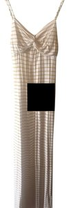 White and gold striped Maxi Dress by Forever 21 Yellow Maxi
