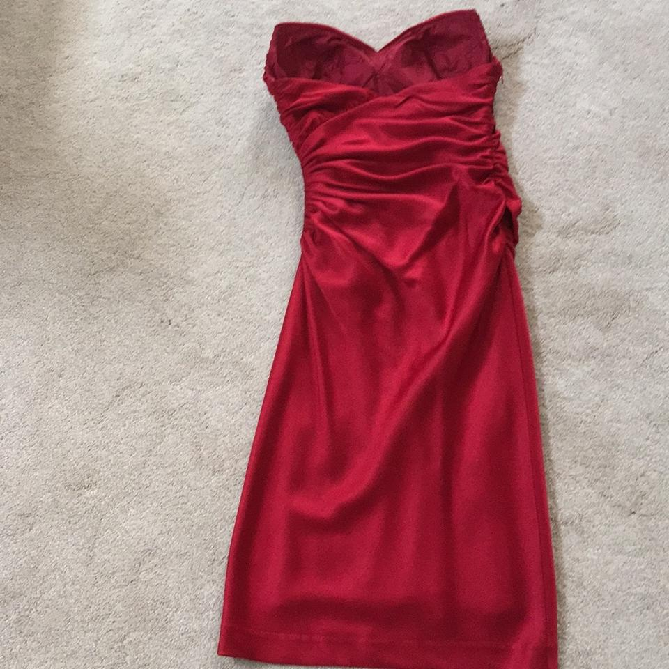 Deep Red Short Cocktail Dress Size 6 (S) - Tradesy