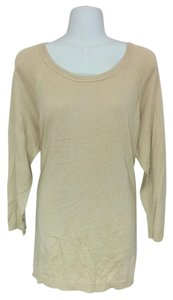 August Silk Scoop Neck Knit 3/4 Sleeve Sweater