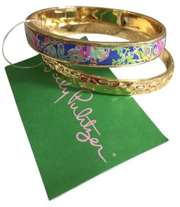 Lilly Pulitzer Gold and Signature Floral bracelets 2