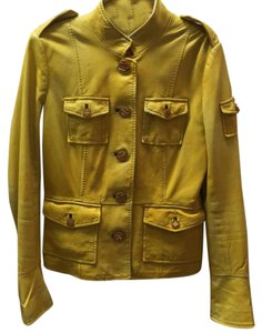 Tory Burch Yellow Leather Jacket