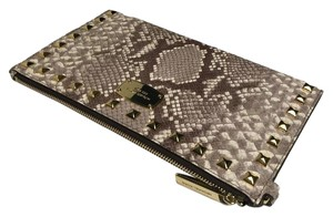 Michael Kors Zip Clutch Wallet Wristlet in Dark Sand Python
