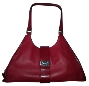Sharon Gioe Leather Monochrome Satchel in Red