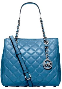 Michael Kors Susannah Small North South Tote in sky blue