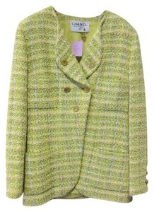 Chanel Vintage Tweed Yellow Blazer