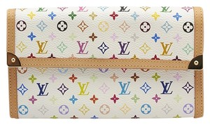 Louis Vuitton Louis Vuitton Porte Tressor Continental Multicolore Coated Canvas & Leather Wallet (83833)