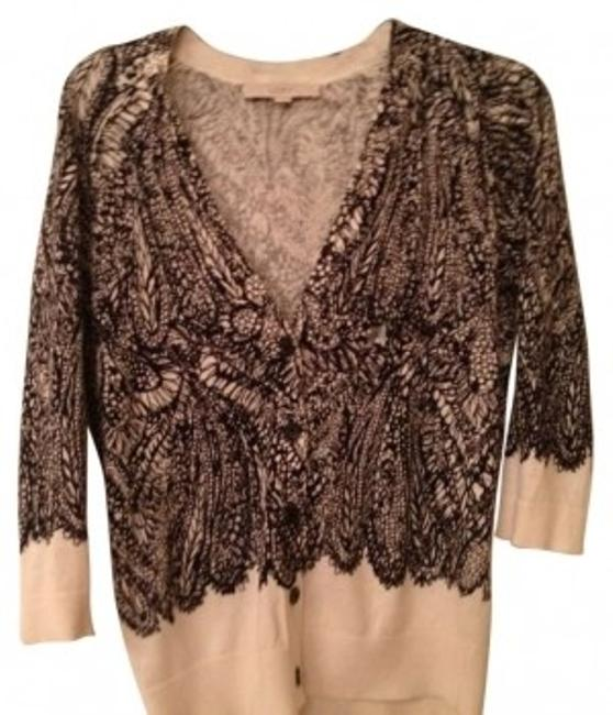 Preload https://img-static.tradesy.com/item/155583/ann-taylor-loft-black-and-cream-print-cardigan-size-4-s-0-0-650-650.jpg
