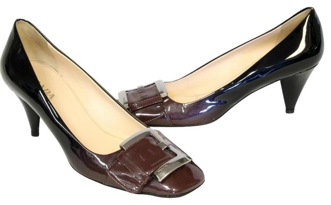 Item - Multi-color Signature Patent Leather with Chrome Hardware 38 Pumps Size US 8 Regular (M, B)