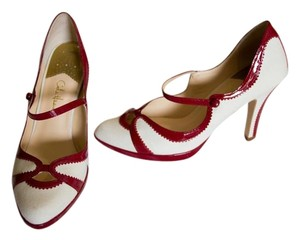 Cole Haan Patent Leather Mary Jane Red Pumps
