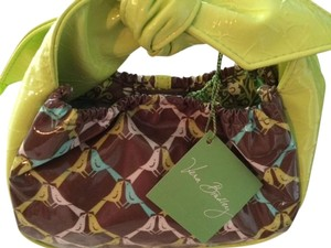 Vera Bradley Satchel in Green, Brown, Turquoise and White