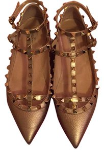Valentino Light metallic gold Flats