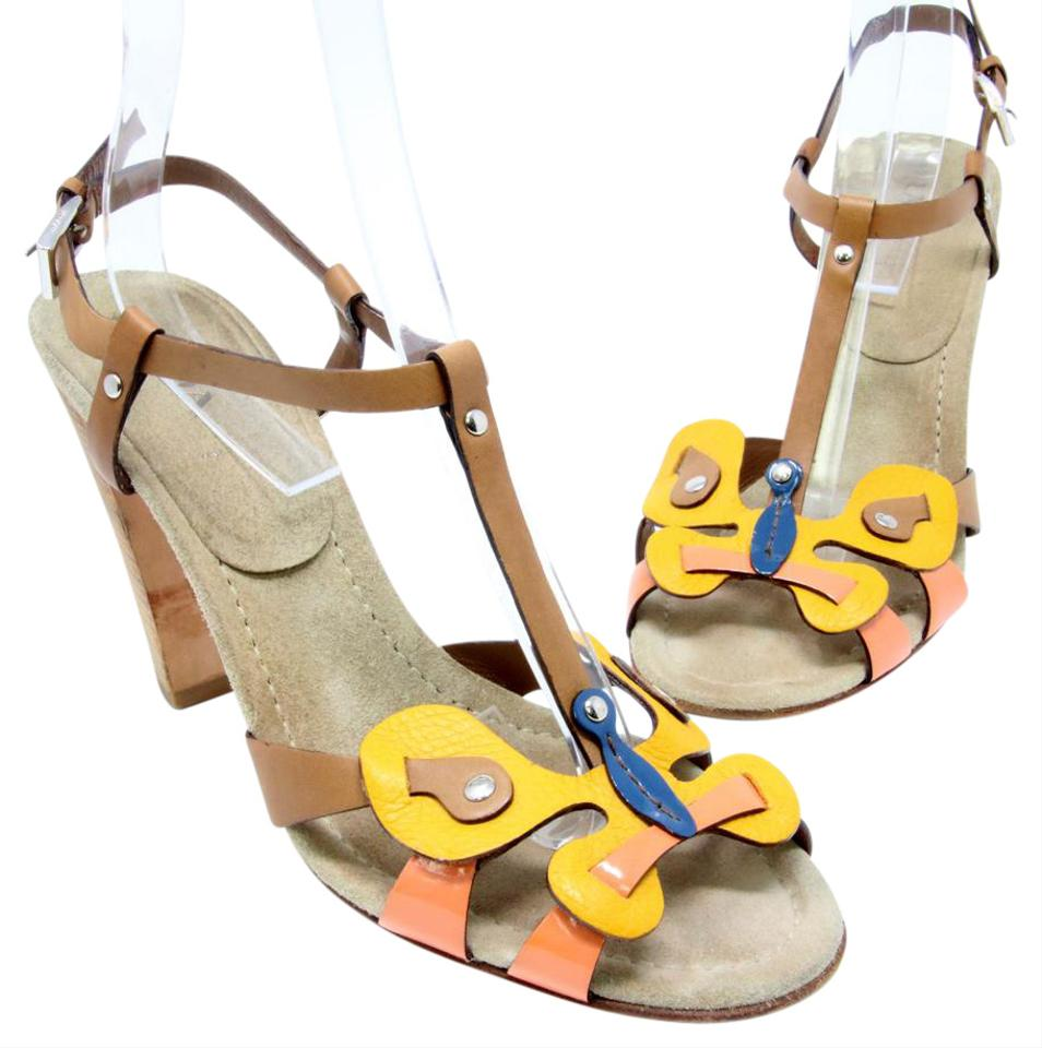 fdf42747 Prada Yellow Monster Limited Edition Butterfly Leather Ankle Strap 41 Pumps  Size US 11 Regular (M, B) 83% off retail