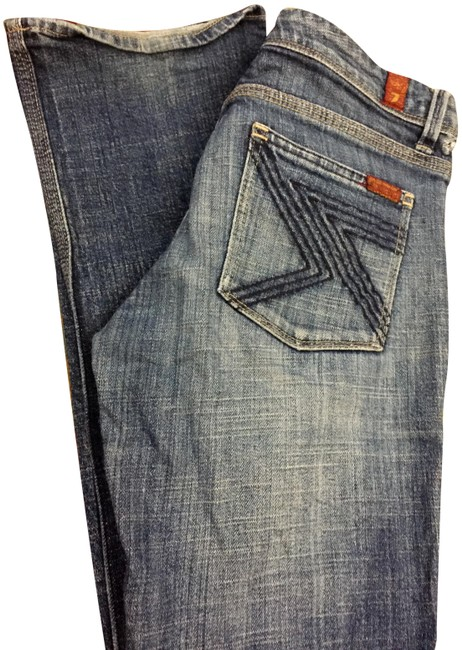 Seven7 Dojo Boot Cut Jeans-Distressed Image 0