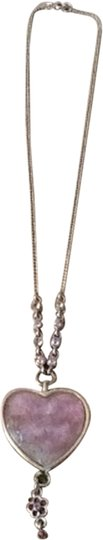 Other Gold tone pink Heart Necklace