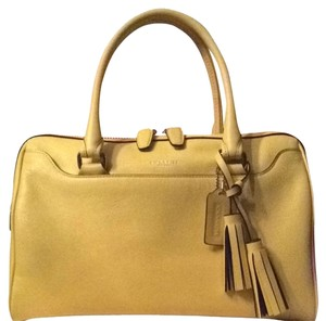 Coach Satchel in Lemon Yellow
