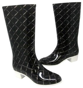 Chanel Jumbo Quilted Cambon Espadrille Black Boots