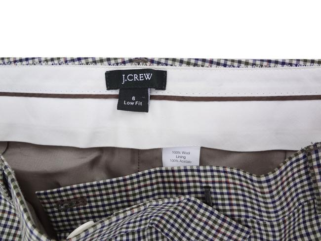 J.Crew Wool 6 Glen Plaid Plaid Trouser Pants Hunter Green Image 1