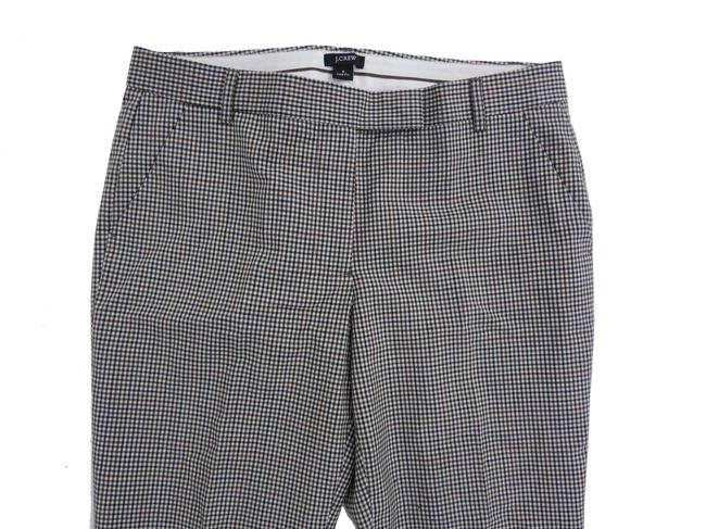 J.Crew Wool 6 Glen Plaid Plaid Trouser Pants Hunter Green Image 2