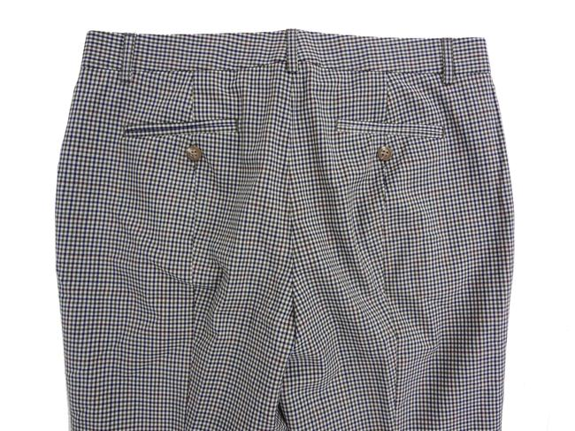J.Crew Wool 6 Glen Plaid Plaid Trouser Pants Hunter Green Image 4