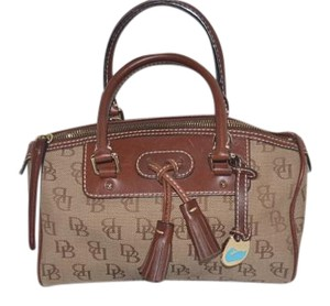 Dooney & Bourke Signature Satchel in Brown