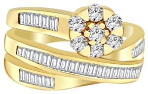 Avi and Co 1.50 cttw Round Brilliant & Baguette Cut Diamond Fashion Ring 14K Yellow Gold