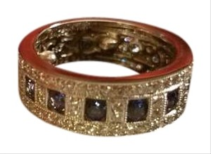 Fortunoff Fine Jewelry Sapphire Diamonds Ring band 18kt Fortunoff NY