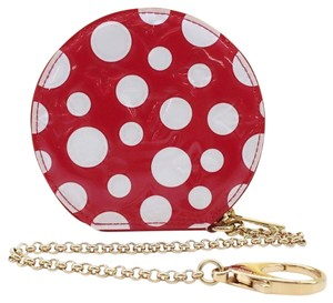 Louis Vuitton Mint Authentic Louis Vuitton x Yayoi Kusama Vernis Red Infiniti Dot Coin Purse w/ Chain