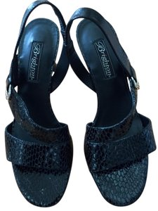 Brighton Nwt Slingbacks Italian Size 7 1/2 Pumps BLACK Sandals