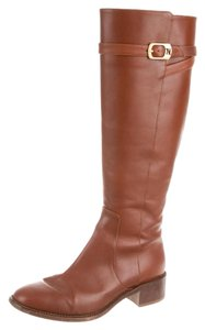 Fendi Leather Designer Winter Fall Brown Boots