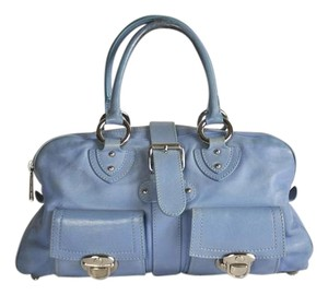 Marc Jacobs Venetia Letaher Satchel in Baby Blue