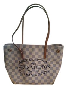 Louis Vuitton Damier New Damier Tote in White check-Damier Azur