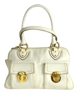 Marc Jacobs Blake Leather Satchel in Ivory