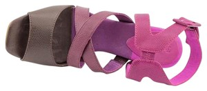 Juicy Couture Leather Wedge Wedges Purple Sandals