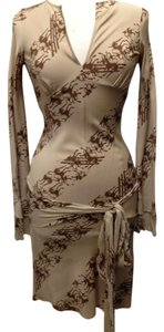 Other short dress Beige - Brown Unicorns Stylish Feminine Fitted on Tradesy