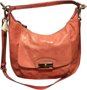 Coach Crossbody Long Strap Designer Designer Patent Leather Leather Pink New Leather Leather Hobo Bag