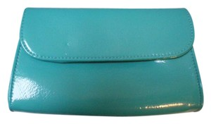 bareMinerals BareMinerals Bare Escentuals Turquoise Patent fold over Makeup Bag Brand New