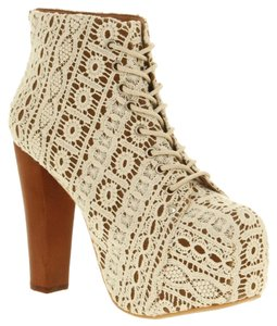 Jeffrey Campbell Lace Chunky White Lace Boots