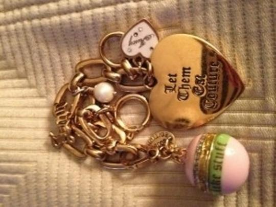 Juicy Couture Juicy with pink/green ornament charm