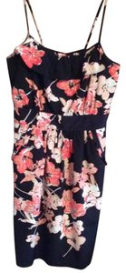 Candie's short dress Black/coral on Tradesy