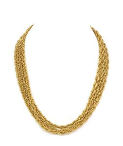 Chanel Chanel Vintage '90s Gold Double Strand Chain Link Necklace