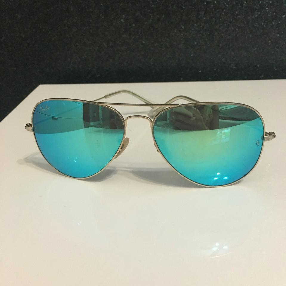 a051cc2345 Ray-Ban Blue Green 62014 Sunglasses - Tradesy