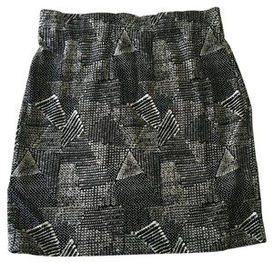 Madewell Mini Skirt Black Print