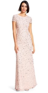 Adrianna Papell Blush/Light Pink Adrianna Papell Scoop Back Sequin Gown Dress
