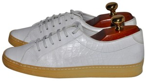Salvatore Ferragamo Ferragamo Sneakers Sneakers Sneakers Low Top Alligator Pattern Crocodile Pattern Leather Crocodile Alligator Made White Athletic